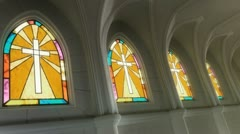 Stained Glass Windows Stock Footage