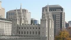 Salt Lake Temple Stock Footage