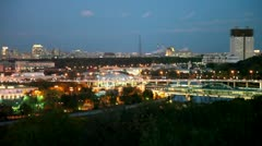 View from Vorobyovy Hills Stock Footage