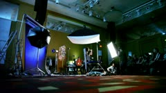 Demonstration of studio photography at conference Stockinrussia 2010 Stock Footage