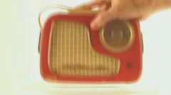 Old radio in out Stock Footage