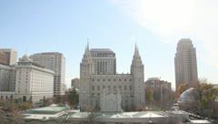 Salt Lake Temple LDS Mormon - stock footage