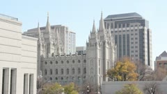 LDS Temple Temple Square Stock Footage
