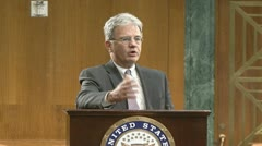 Senator Tom Coburn on government debt Stock Footage