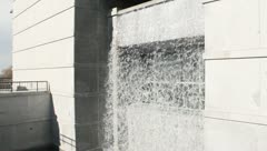 Waterfall from a building Stock Footage