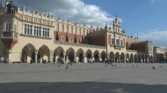 Time lapse Sukiennice (the Cloth Hall,Drapers' Hall), Old Town, Krakow, Poland Stock Footage