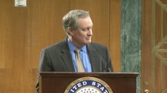 (1 of 2) Senator Mike Crapo on government debt - stock footage