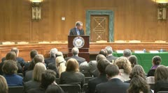 US Senate hearing room Stock Footage