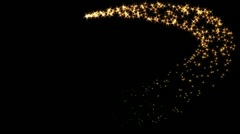 Flares with particles Stock Footage