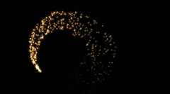 flares with particles - stock footage