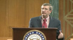 (1 of 2) Senator Kent Conrad on government debt Stock Footage