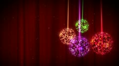 Christmas-Bauble-Ornament-01 - stock footage