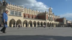 Sukiennice (the Cloth Hall or Drapers' Hall), Old Town, Krakow, Poland Stock Footage