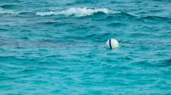 Floating Buoy. Stock Footage