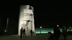 Martin Luther King Memorial, Stone of Hope, night Stock Footage