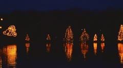 Christmas town mcadenville nc lake 02 Stock Footage