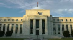 Federal Reserve Building - frontal -  in Washington, DC - stock footage