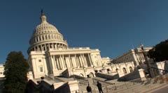 US Capitol Building, DC, rakish angle Stock Footage