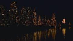Christmas town mcadenville nc lake 03 Stock Footage