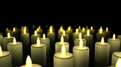 Big Candles Passing By Stock Footage