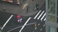Stock Video Footage of NYC pedestrians in the rain