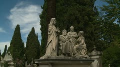 Family Tomb glidecam in Rome cemetery Stock Footage