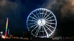 Christmas in London. Ferris wheel. Christmas Market Stock Footage