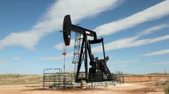 Oil Pump jack - stock footage