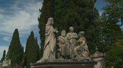 Cemetery family tomb in Italy, Cimitero del Verano - glidecam Stock Footage
