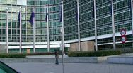 Stock Video Footage of European Commission building in Brussels