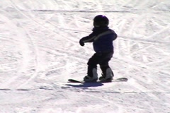 Snow boarding 101, ready for prime time - stock footage