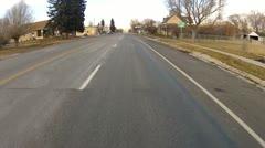 Village town center driving rural community Utah P HD 0004 Stock Footage