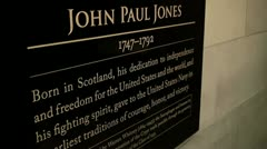 Memorial of John Paul Jones  - stock footage