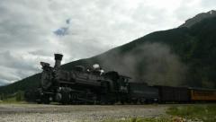 Durango - Silverton Train Pulling In - stock footage