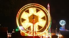 London, colourfull Ferris wheel. Christmas  Stock Footage