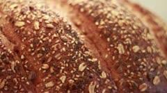 Grain bd CU pan left 2 Stock Footage