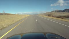 Drive plate, Montana late fall, sunny late fal learly winter afternoon - stock footage
