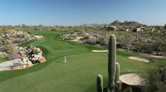 Arizona golf course Stock Footage
