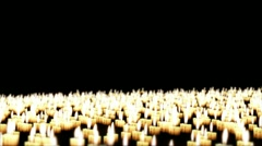 Candles in the night, Holiday Background, Camera Fly Over - stock footage