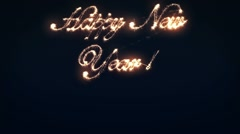 Happy New Year 2012 Sparkler Stock Footage