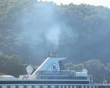 Cruise Ship Emission 01 PAL - stock footage