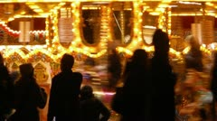 Merry-Go-Round silhouettes Stock Footage