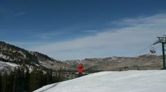 Ski back flip Stock Footage