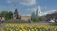 Stock Video Footage of People walking in Sophievskaya Square in Kiev, Ukraine