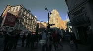 Stock Video Footage of NYC Timelapse - manhatten canyon 23