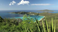 Pristine Caribbean Island View - stock footage