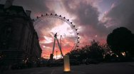 Stock Video Footage of London Timelapse - london eye 02 - sunset