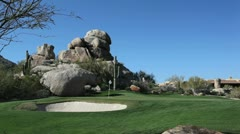 The Boulders golf course in Arizona Stock Footage