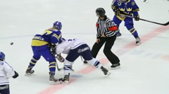 Face-off, Sweden-Finland, women Stock Footage