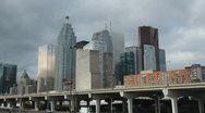 Toronto financial district. Closeup. Stock Footage